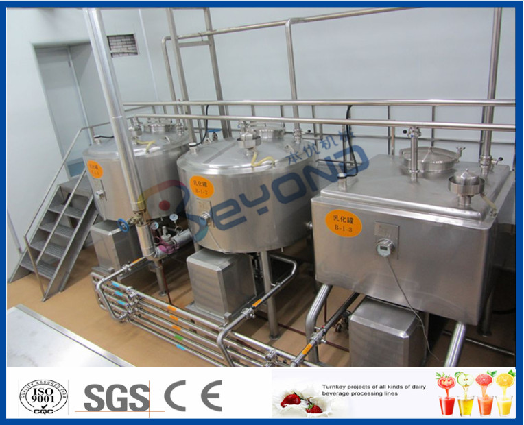 5000L/H Milk Production Plant /Beverage Processing Equipment With Bottle Package