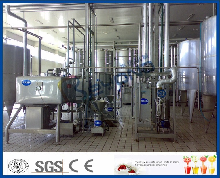 Fresh Milk / Pouch Milk / Dairy Milk Processing Plant , 1000 - 6000LPH Milk Powder Plant