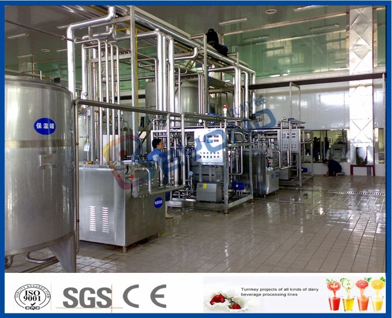 2000L/H Dairy Processing Plant With Homogenizer And Pasteurizer 3000-4000 Bottles/H